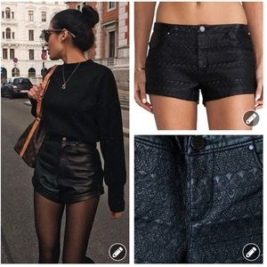 Blank NYC vegan leather mini shorts #1862